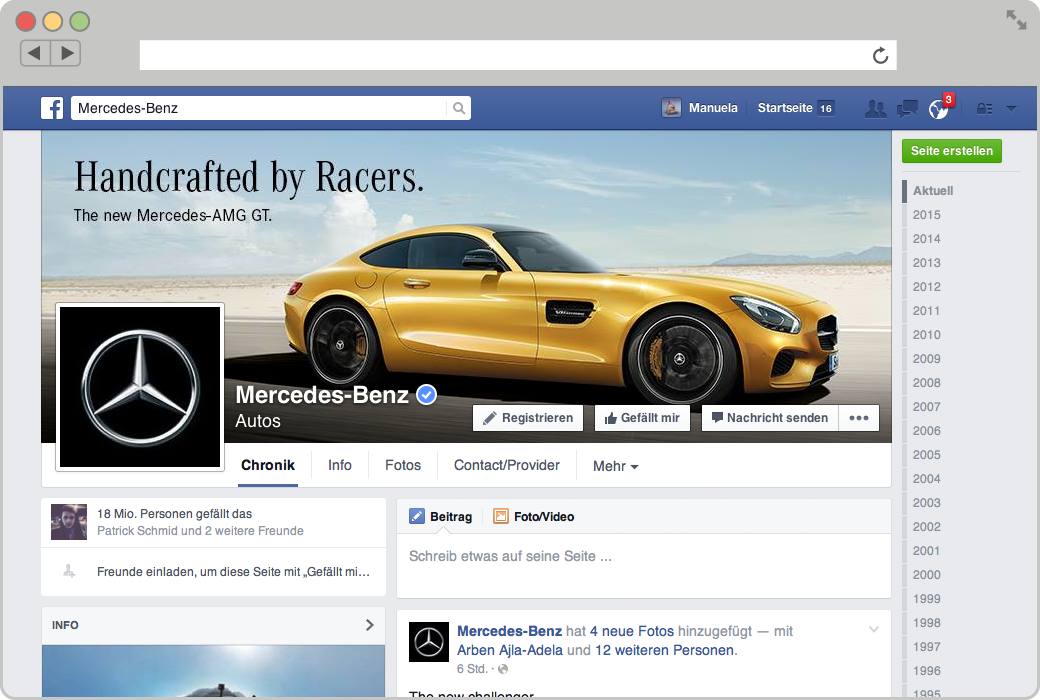 social media marketing mercedes benz austria pulpmedia